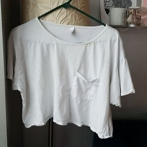 American Apparel cotton crop tee